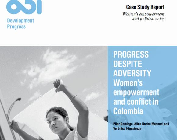 Progress despite adversity: women's empowerment and conflict in Colombia