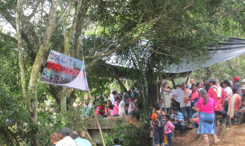 Protests against British based Oil Company in Colombian Amazon