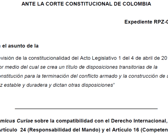 ABColombia endorses legal challenge in front of Colombian Constitutional Court