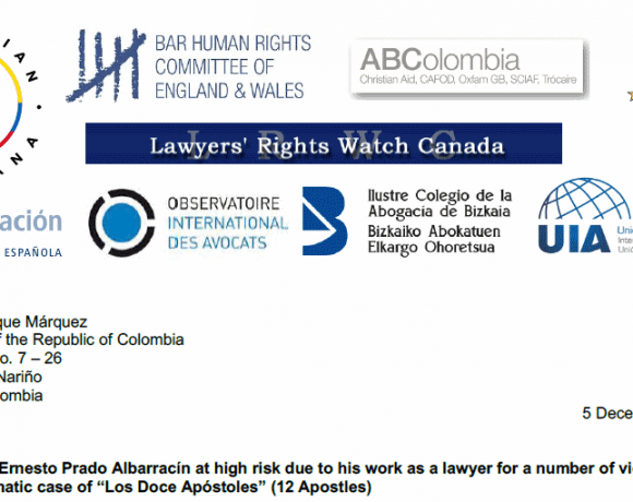 "Case of ""Los Doce Apóstoles"": Human Rights Lawyer Daniel Prado at high risk"