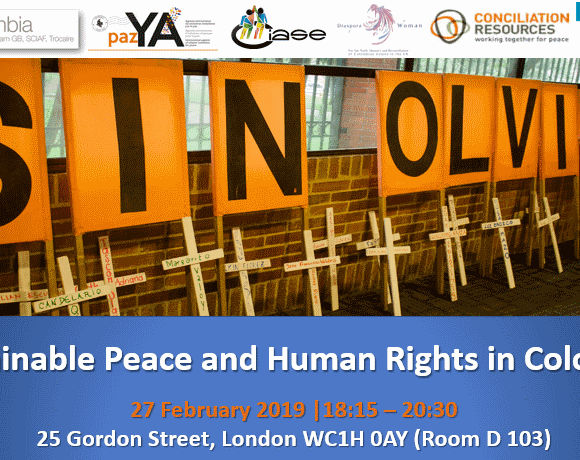 Event: Sustainable Peace and Human Rights in Colombia
