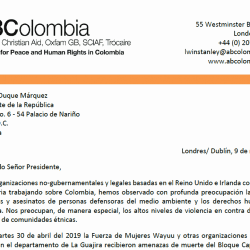 Threats against Indigenous Human Rights Defenders in La Guajira, Colombia