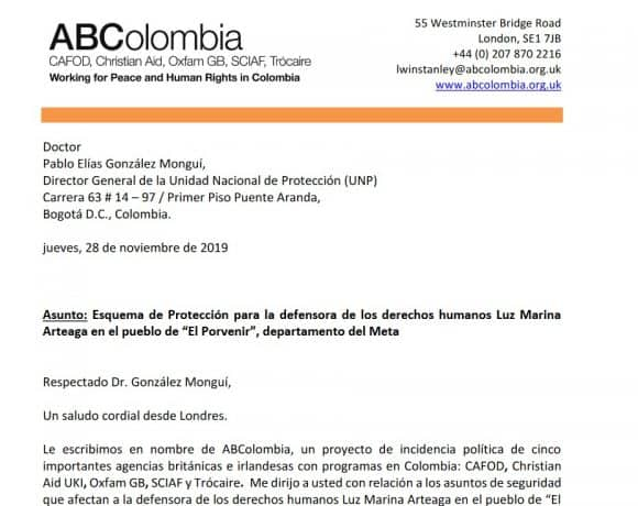 Threats against human rights defender Luz Marina Arteaga