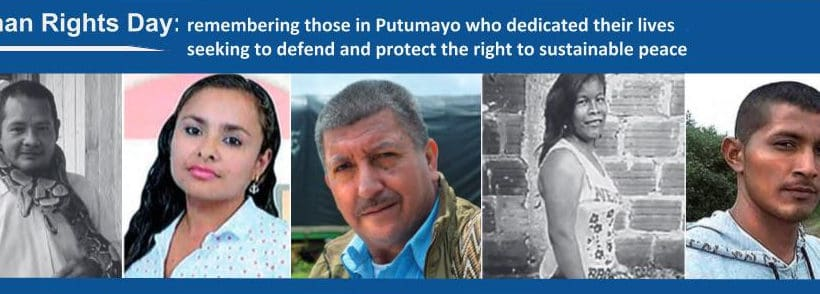 Human Rights Day: remembering those seeking to defend and protect the right to sustainable peace