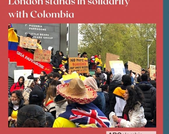 London in solidarity with Colombia