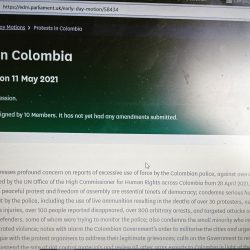 EARLY DAY MOTION #4 PROTESTS IN COLOMBIA